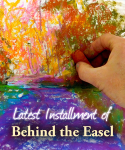 Behind the Easel
